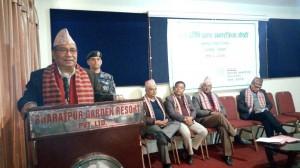 Adressing-Bharatpur-workshop-meeting-by-Hon-Minister-Dava-Dorje-Lama