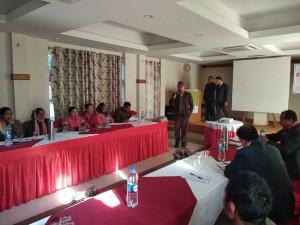 Mr.-Laxmikanta-Dhakal-Presedent-SEAN-presenting-paper-on-Surkhet-workshop