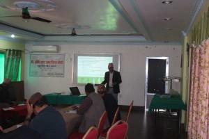 Mr.Laxmikanta-Dhakal-SEAN-presenting-paper-to-Dhanaghadi-workshop