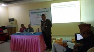 Mr.Mitra Raj Dawadi SEAN Presenting paper on Butawal Workshop